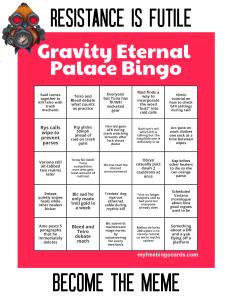 Gravity EP Bingo