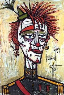 Clown militaire, par Bernard Buffet