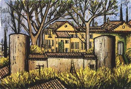 Le château de la Baume, par Bernard Buffet