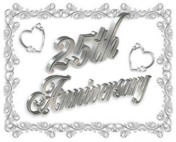 unique 25th wedding anniversary