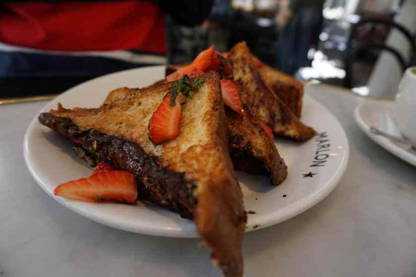 Chocolate French Toast at Marlon Restaurant, Paris