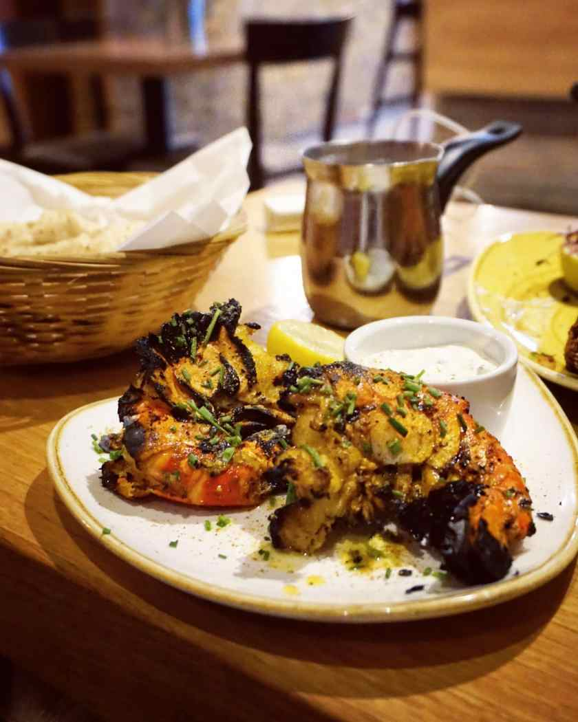 Chive & Garlic Prawns at Hankies Cafe