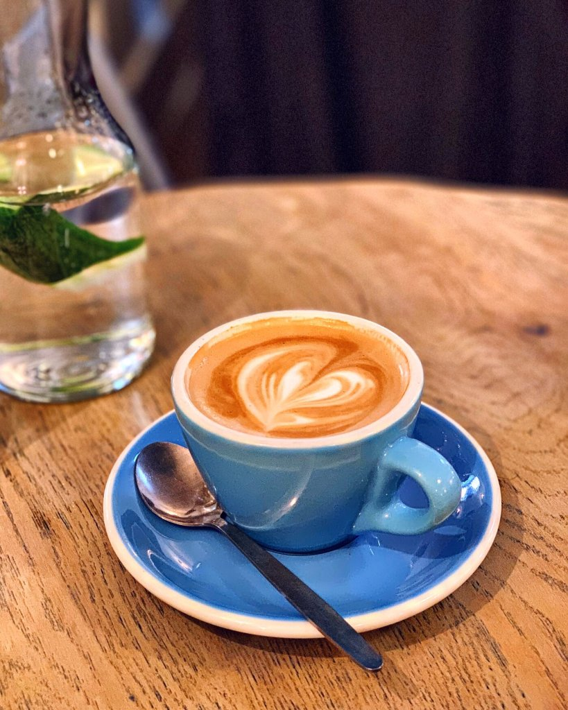 Cup of Flat White at Eggbreak London