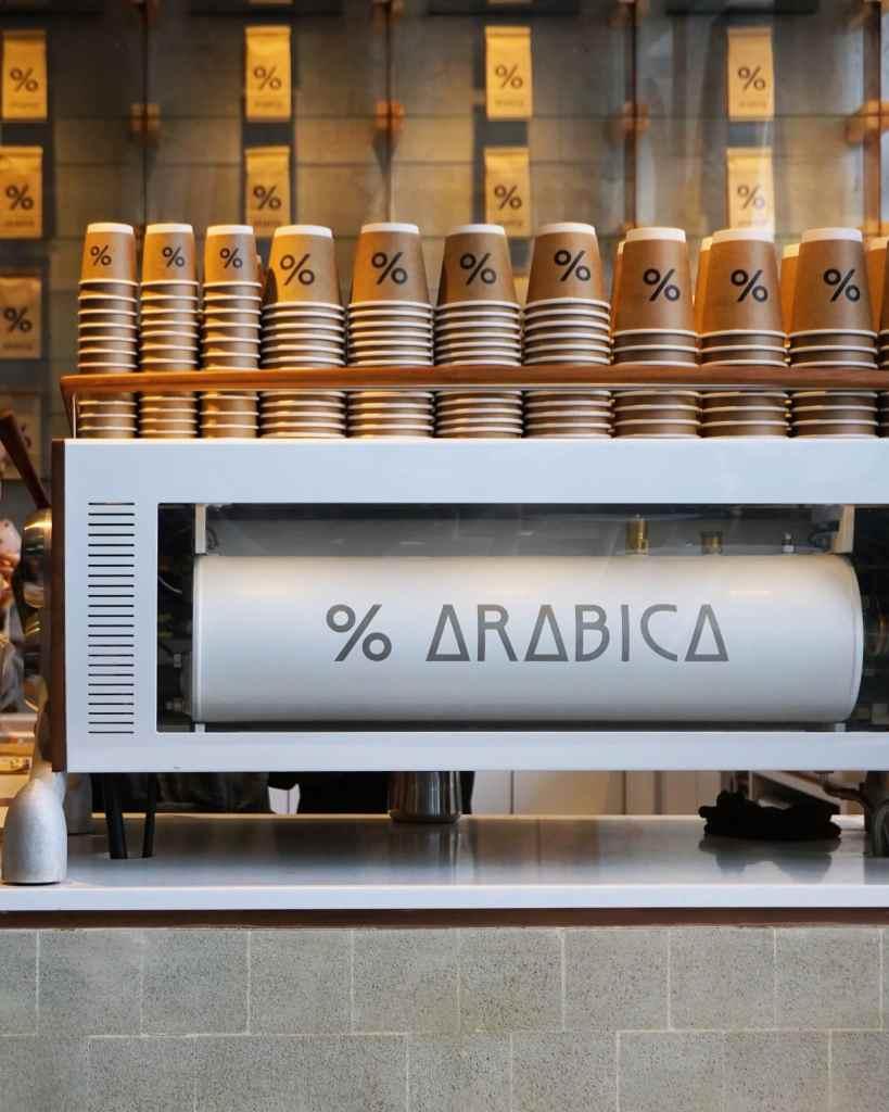% Arabica's coffee bar