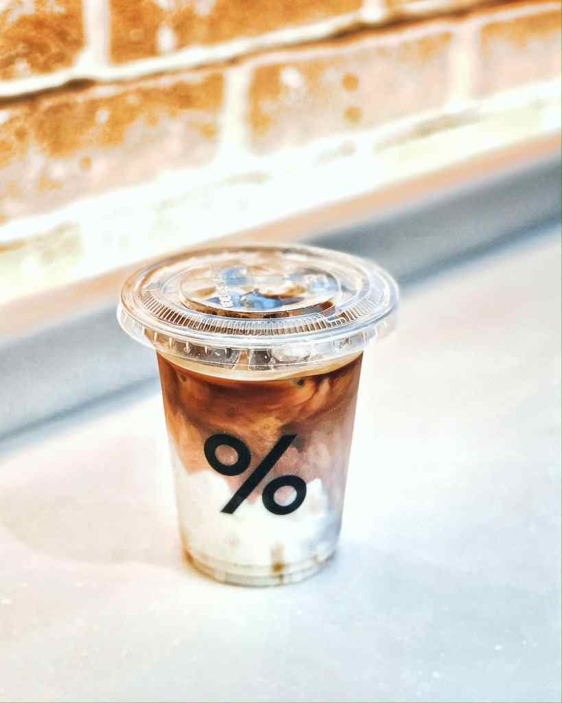 Image of a cup of % Arabica Iced Latte