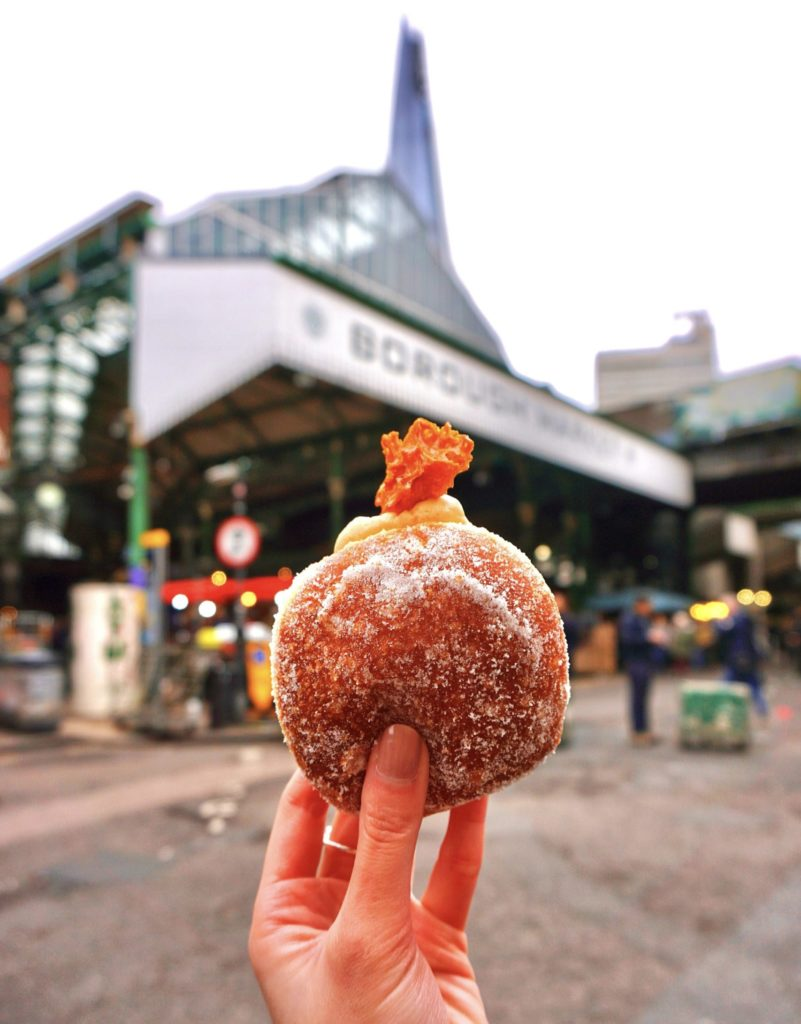 Caramel & Honeycomb Doughnut from Bread Ahead Bakery, London Bridge Borough Market