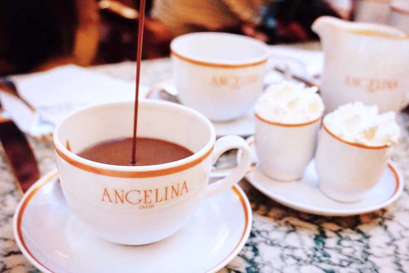 The African Hot Chocolate at Angelina Paris