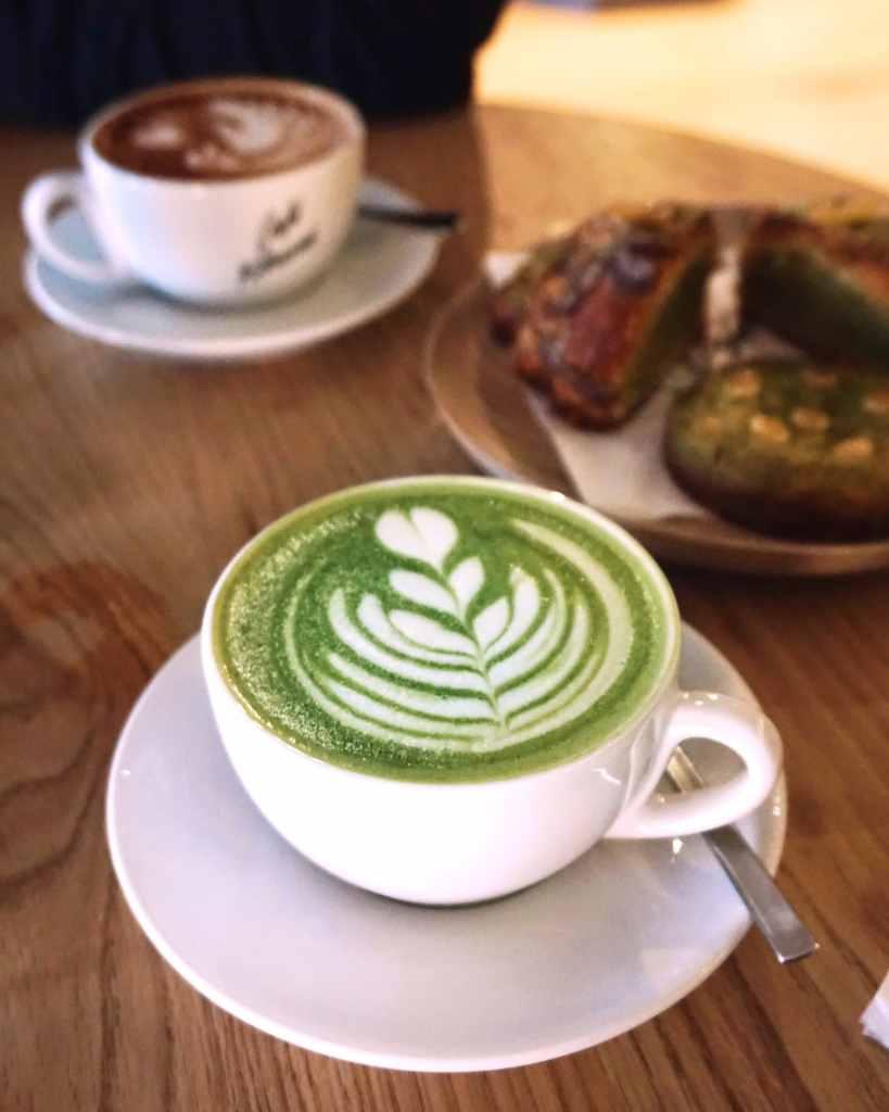 Matcha Latte at Cafe Kitsune London