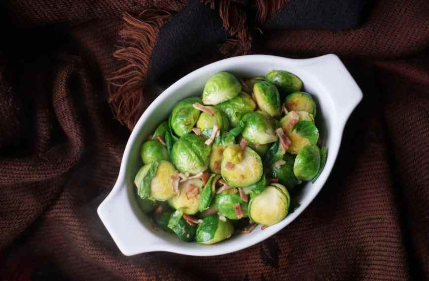 Brussel Sprouts with Turkey Rashers Recipe