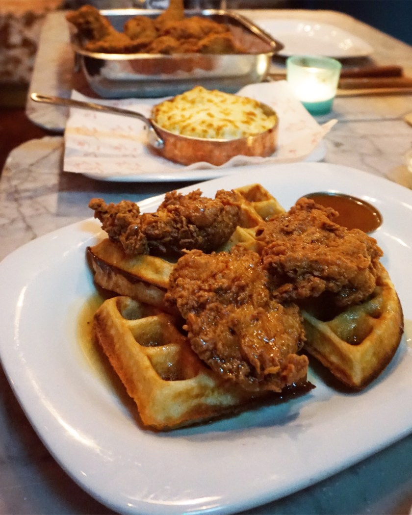 Fried Chicken & Waffles at Absurd Bird