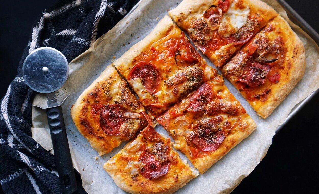 Homemade Sliced Pizza