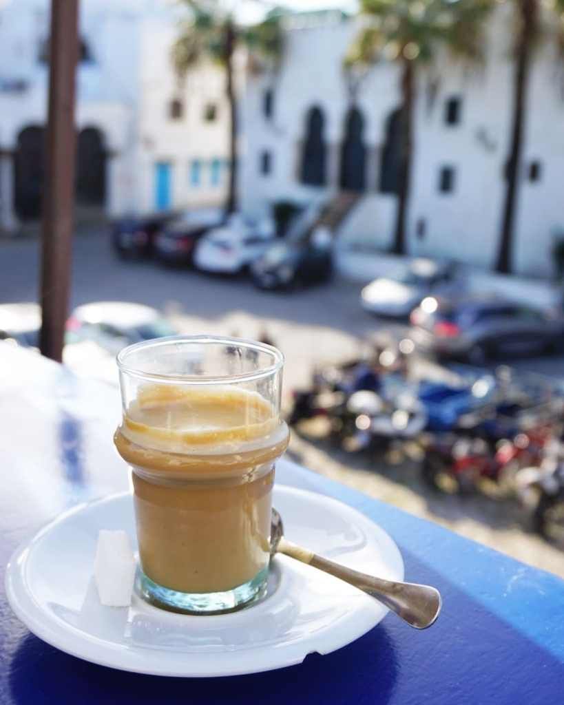 Coffee at Salon Bleu in Tangier, Morocco