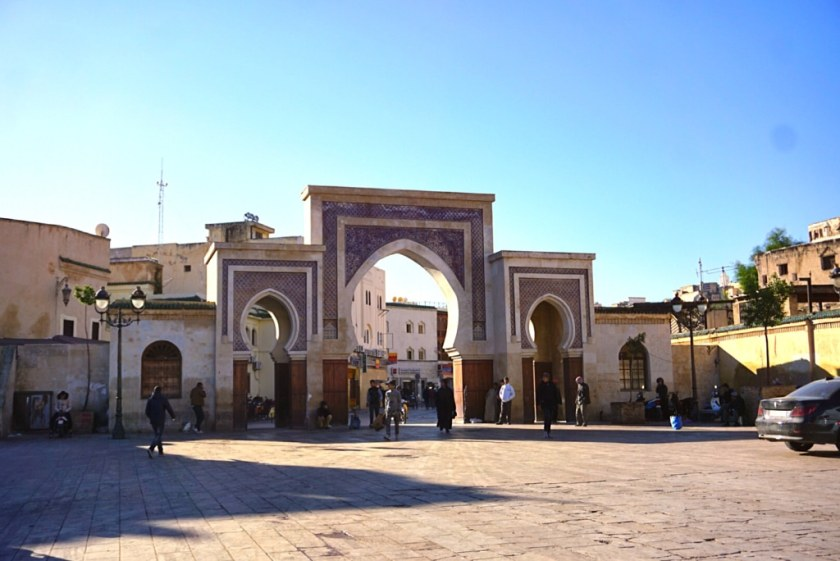 The Blue Gate to the medina of Fez