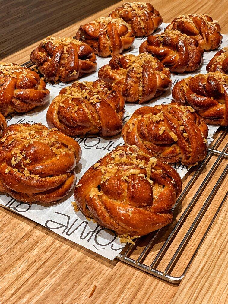 Melaka Gula Twist Buns at Arome Bakery