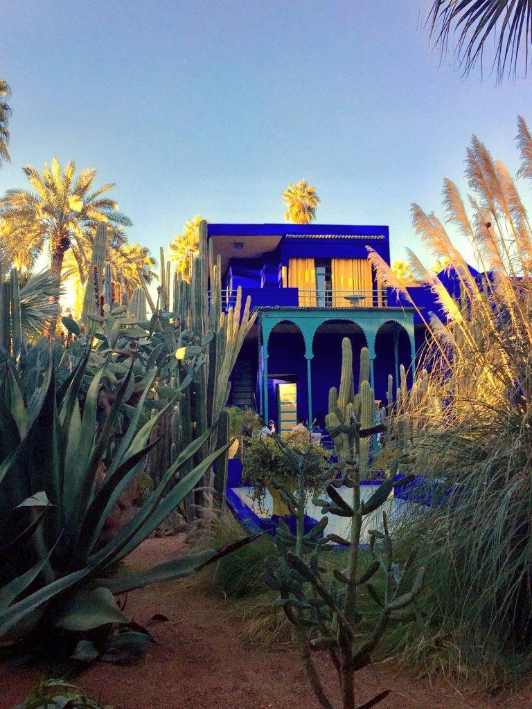 The Majorelle Gardens in Marrakech, Morocco