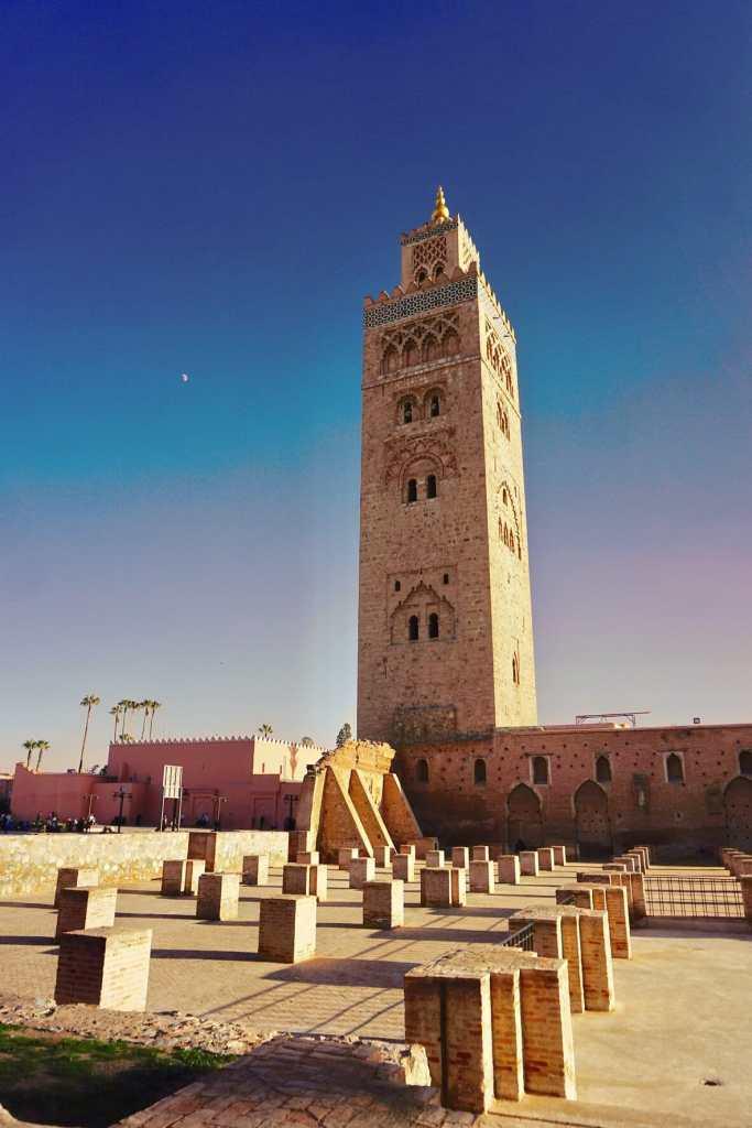 Koutobia Mosque at Marrakech, Morocco
