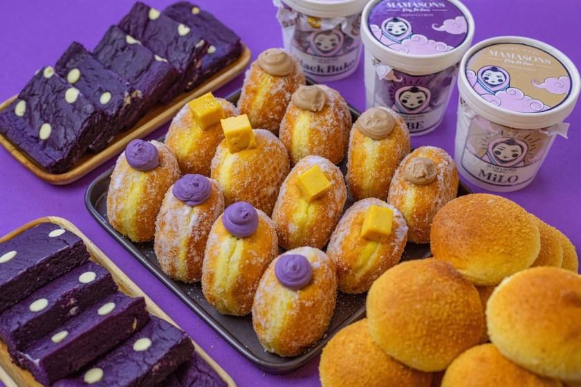 Doughnuts, Ube Brownies, Pandesal, and Ice Cream from Mamasons Dirty Ice Cream