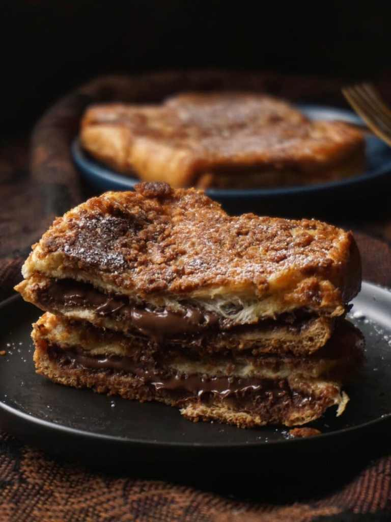Biscuit-coated Nutella French Toast