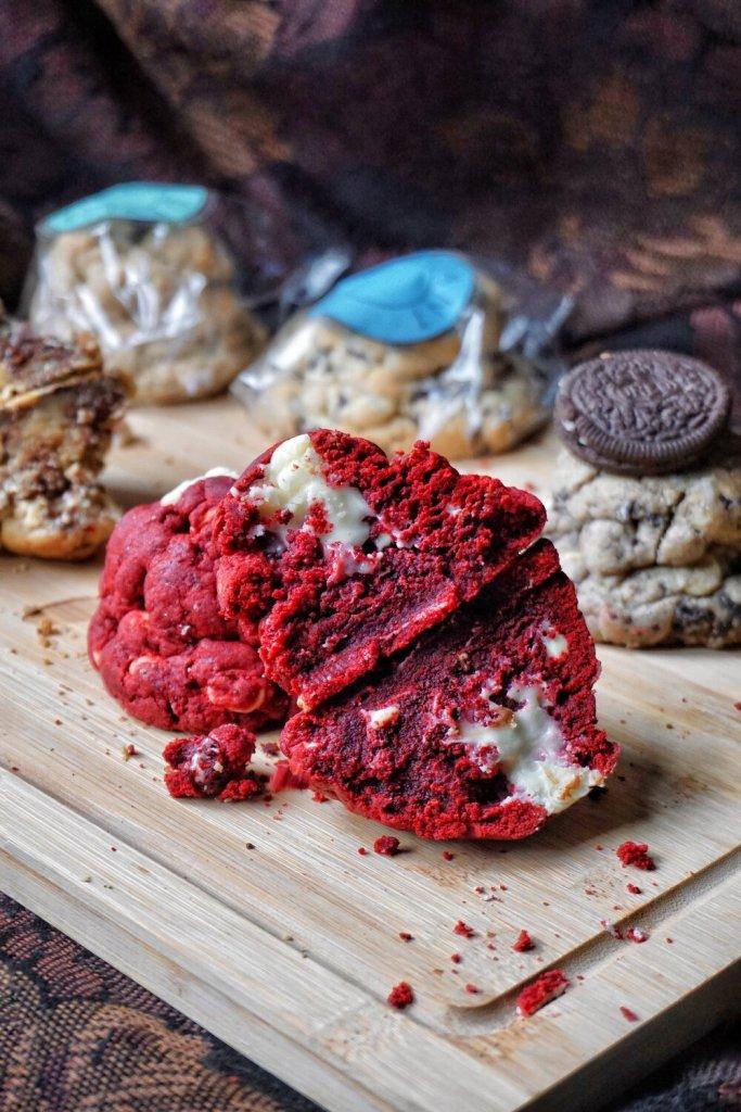 Gooey Red Velvet Cookie from Deviant Cookies