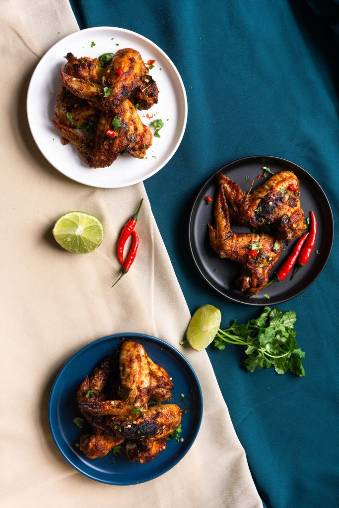 Thai Red Curry Baked Chicken Wings