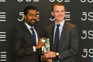 Prejelin Naggan, Head of Primary Markets, JSE and Wehmeyer Ferreira, Chief Operating Officer of STANLIB Index Investments