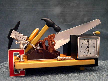 Contractors Tools Miniature Novelty Clock