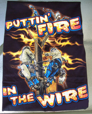 TNT Putting Fire In The Wire Linemans Shirt