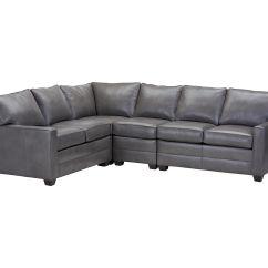 Bennett Leather Sofa Como Decir Cama En Ingles Track Arm Four Piece Sectional Quick Ship