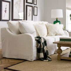 Living Room Couches Ethan Allen Decorative Chairs For Go Coastal Dylan Slipcovered Sofa Sofas