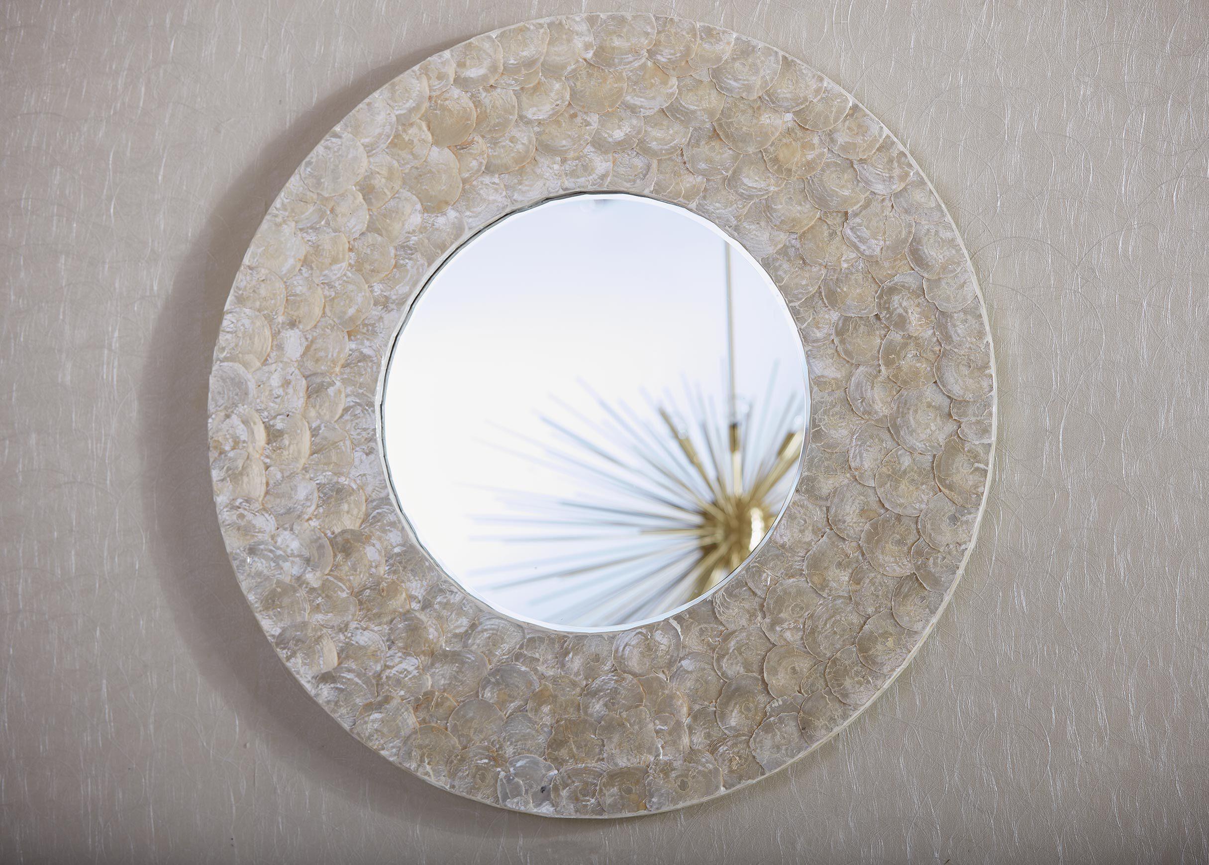 Kailani Beveled Mirror Capiz Shell