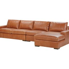 3 Piece Leather Sectional Sofa With Chaise Cover Lounge Conway Three Ethan Allen