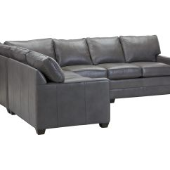 Bennett Leather Sofa Lc2 Reion Track Arm Four Piece Sectional Quick Ship