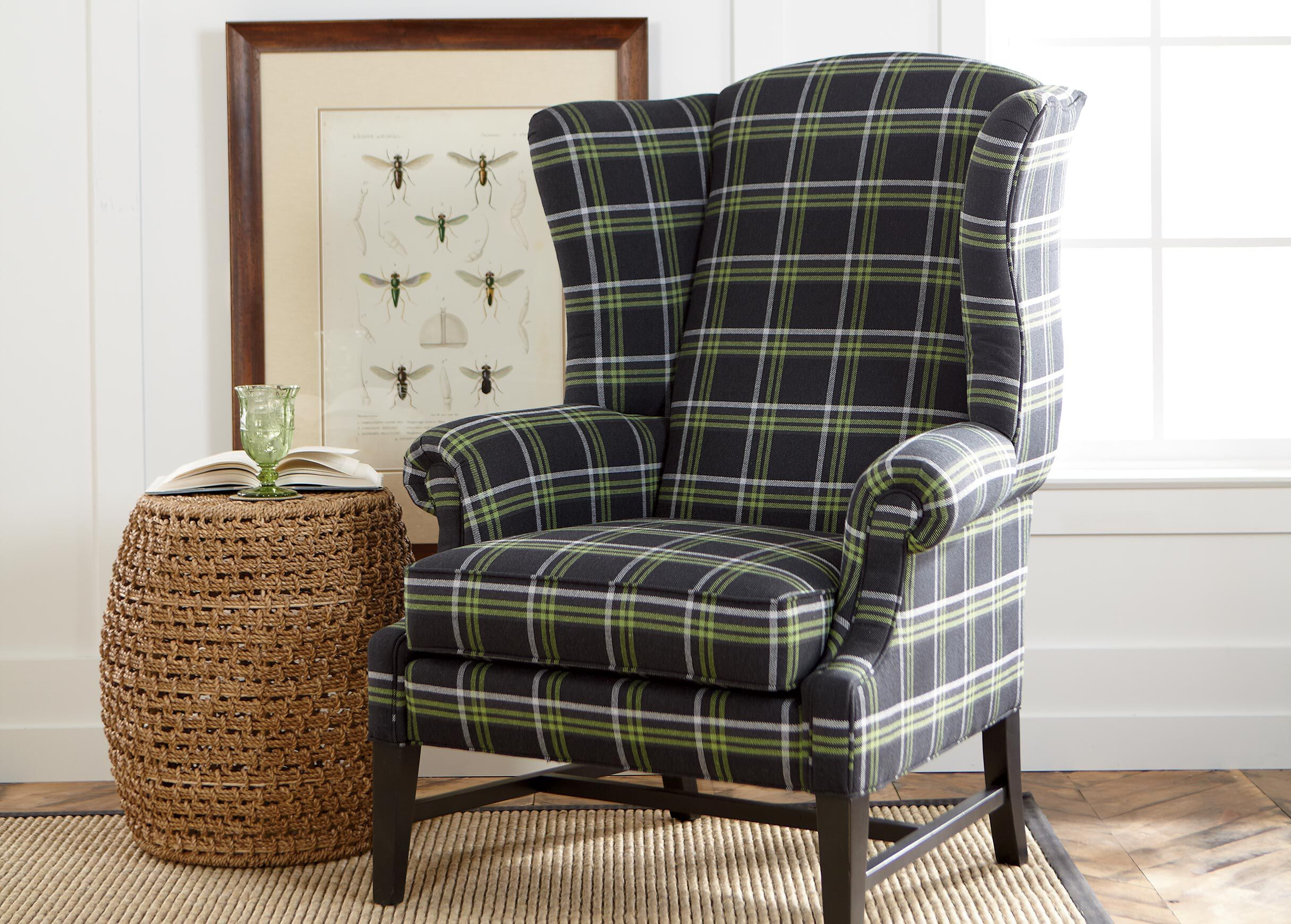ethan allen wingback chairs office recliner chair canada paxton avocado fabric fabrics