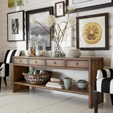 sofa tables for living room white wood furniture console entrance ethan allen quick ship