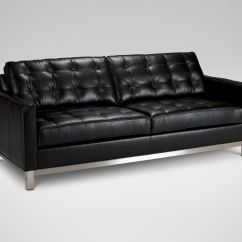 Melrose Leather Sofa Ethan Allen Great Beds Sofas And Loveseats