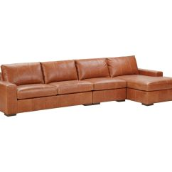 3 Piece Leather Sectional Sofa With Chaise Paletten Selber Bauen Teil 1 Conway Three Ethan Allen