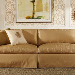 Sam Moore Carson Sofa Sleeper Brown Leather Skirted Gigi Thesofa