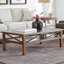 small living room coffee table with corner fireplace shop tables ethan allen quick ship dexter