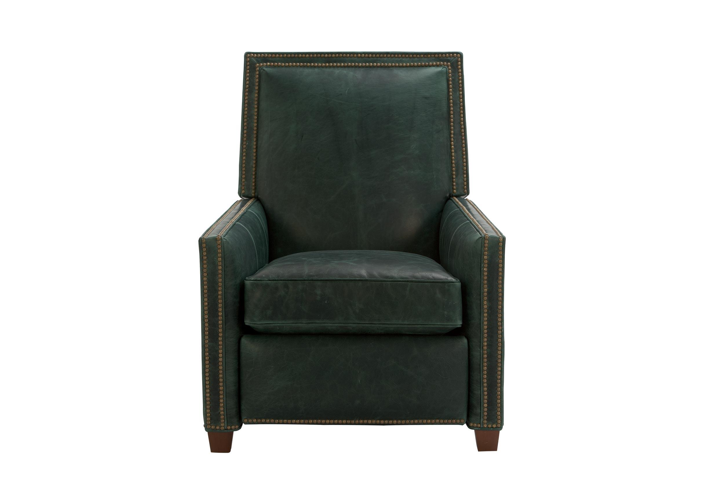 ethan allen leather chair modern side randall recliner recliners