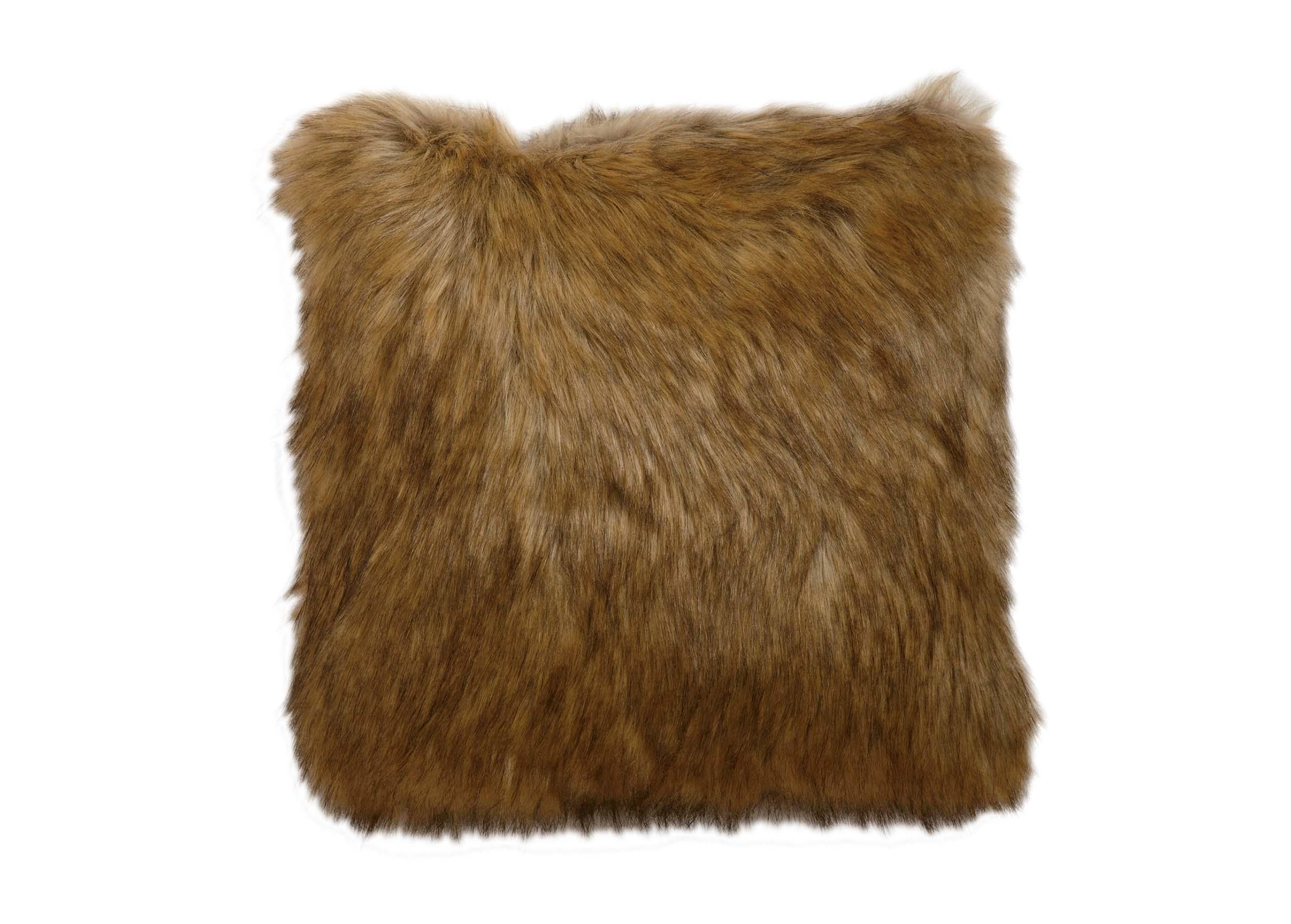 Tipped Fox Faux Fur Pillow  Pillows  Ethan Allen