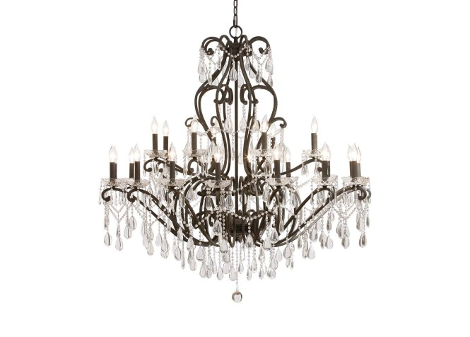Images Whitney Slate Grand Chandelier Large Gray