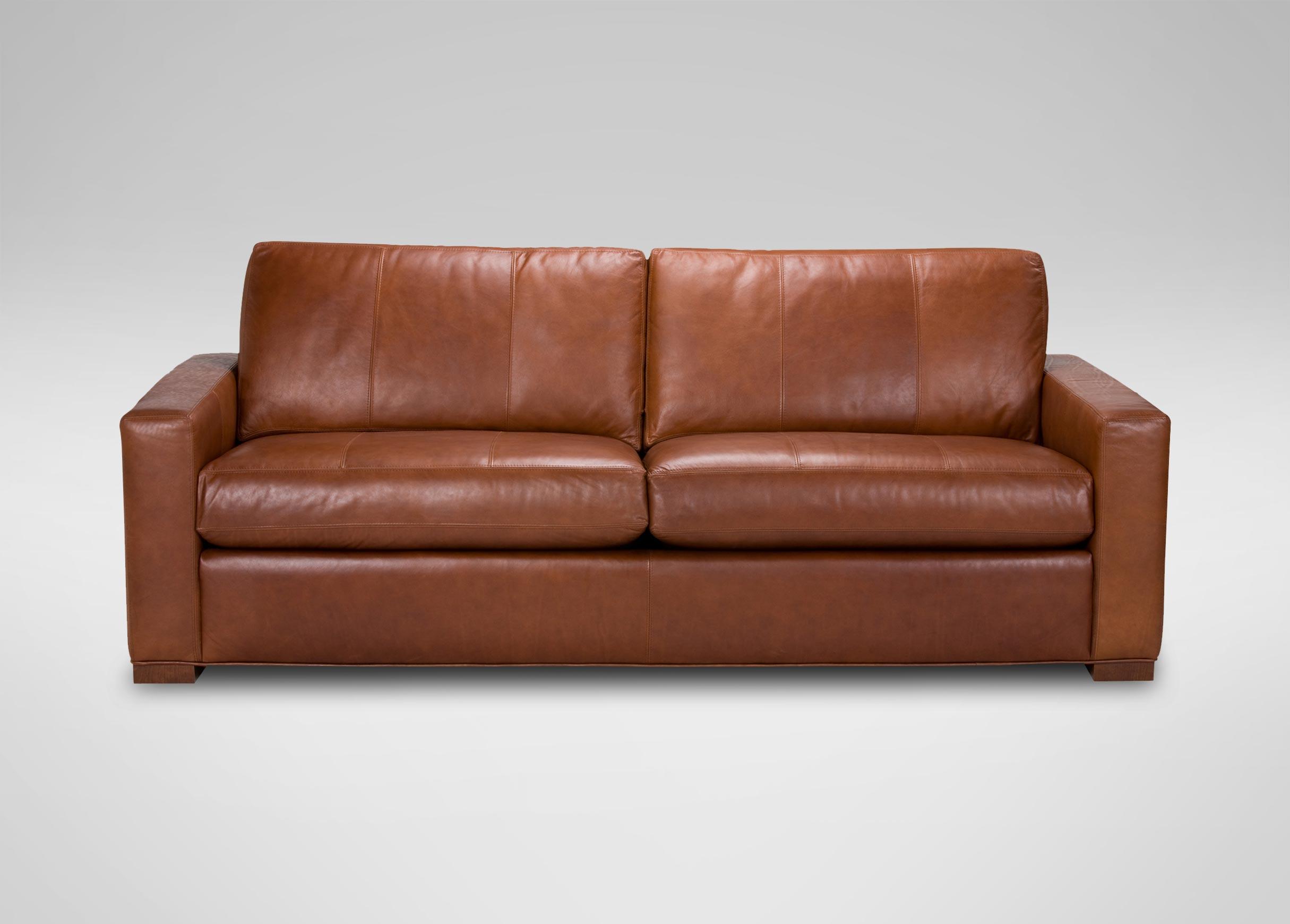 Hudson Leather Sofa  Sofas  Loveseats  Ethan Allen