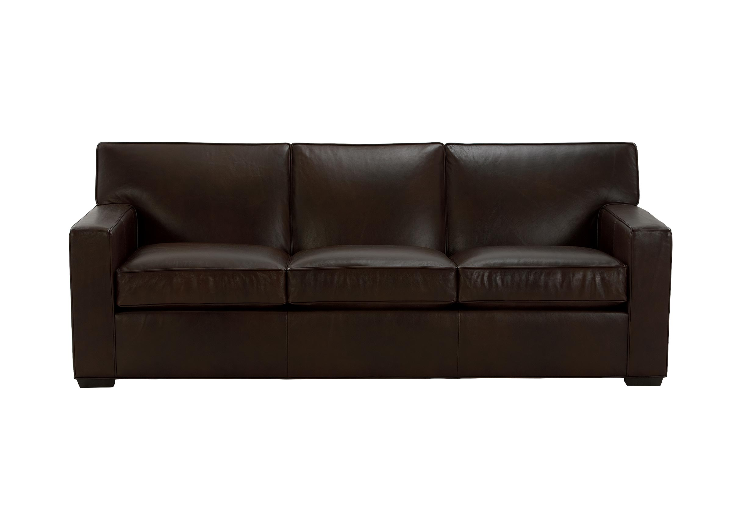 leathers sofa dark brown in living room kendall leather sofas and loveseats ethan allen