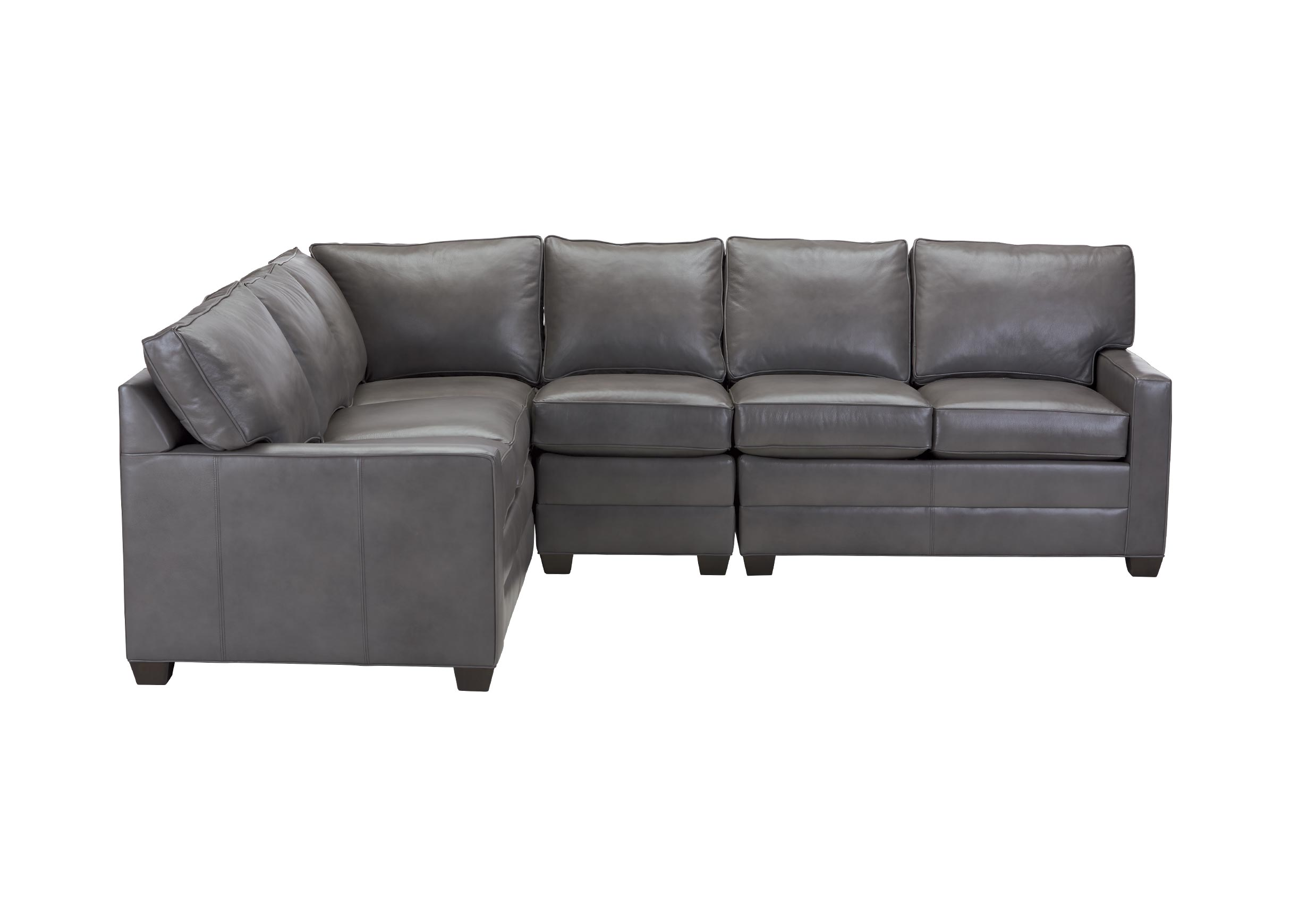 bennett leather sofa cindy crawford blue track arm four piece sectional quick ship