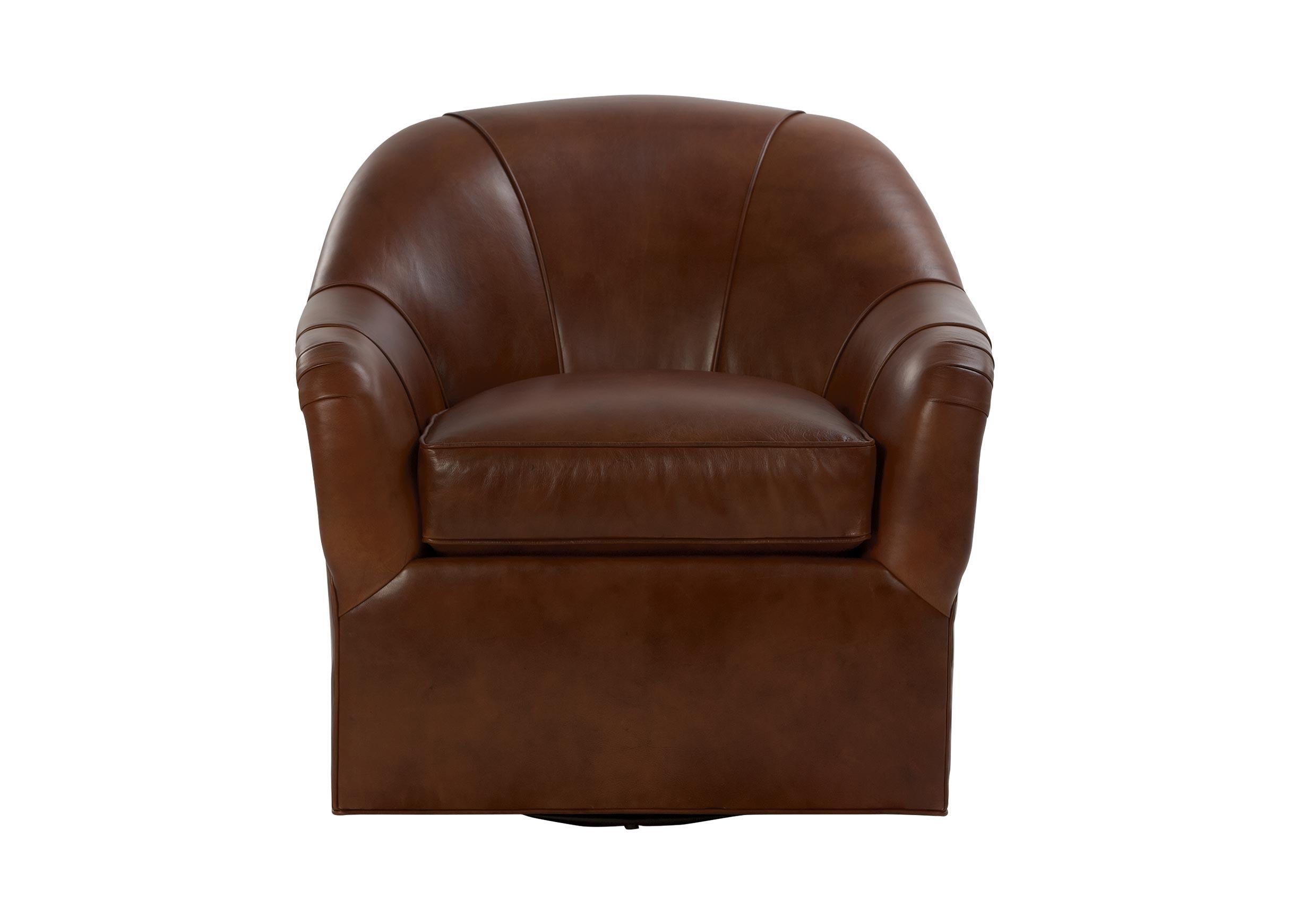 Marino Swivel Leather Chair  Chairs  Chaises