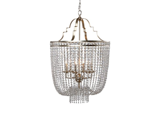 Images Large Alexa Chandelier Gray