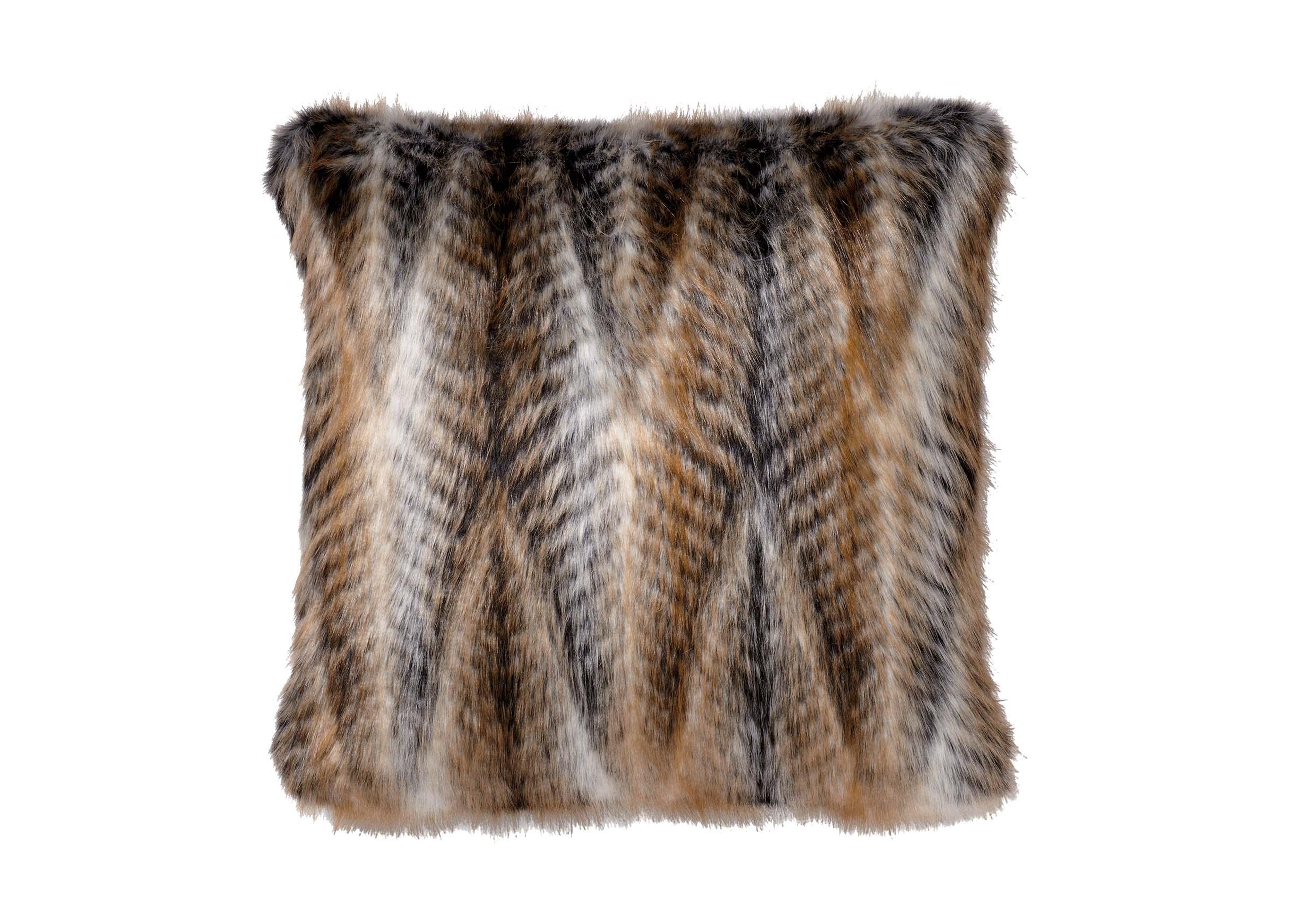 Faux Fur Chevron Pillow  Pillows  Ethan Allen