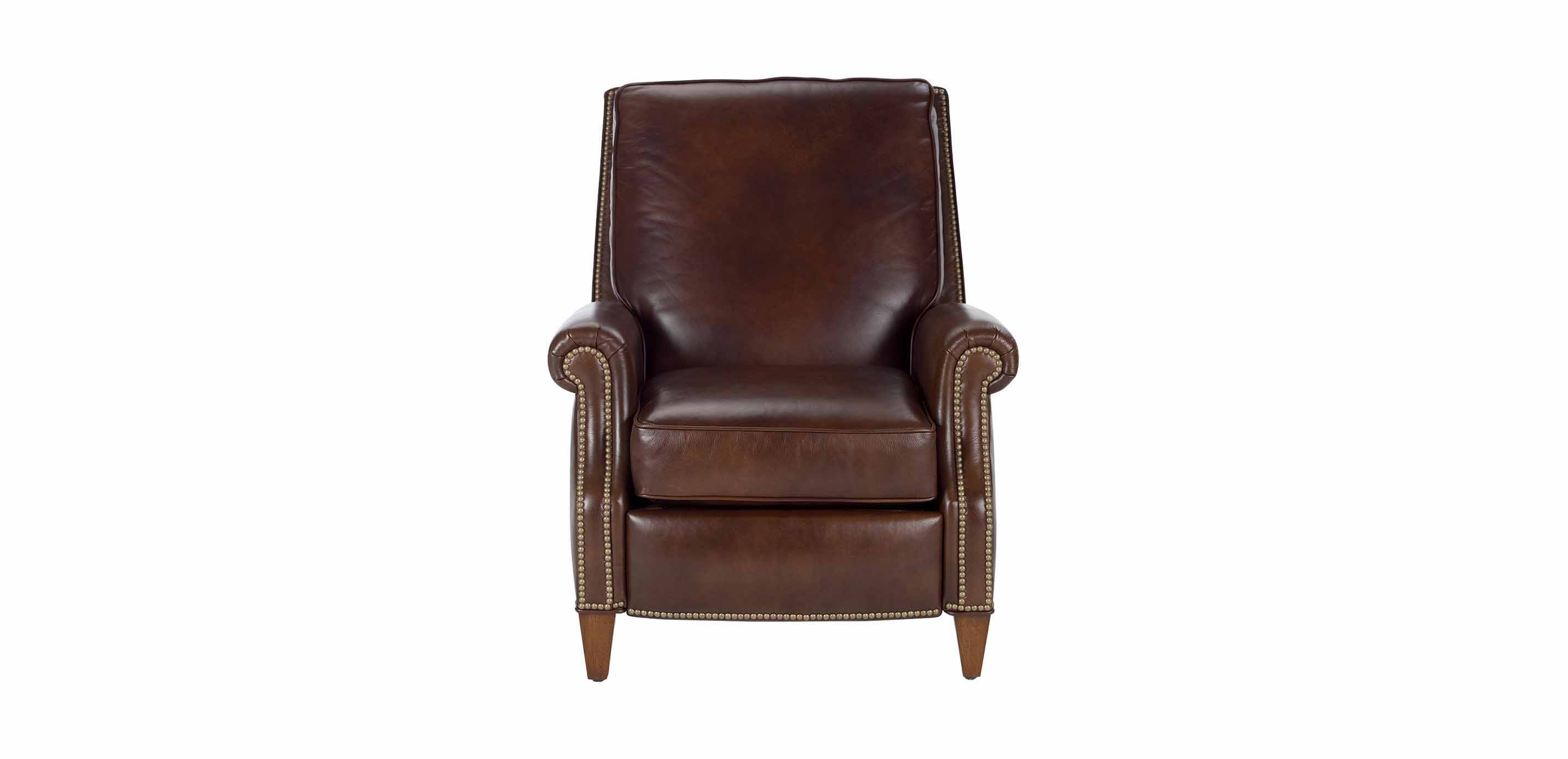 ethan allen leather chairs high for sale colburn recliner omni brown custom quick ship
