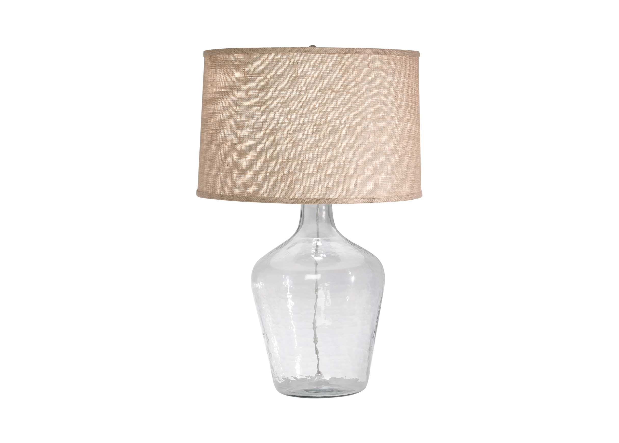 Glass Plum Jar Table Lamp