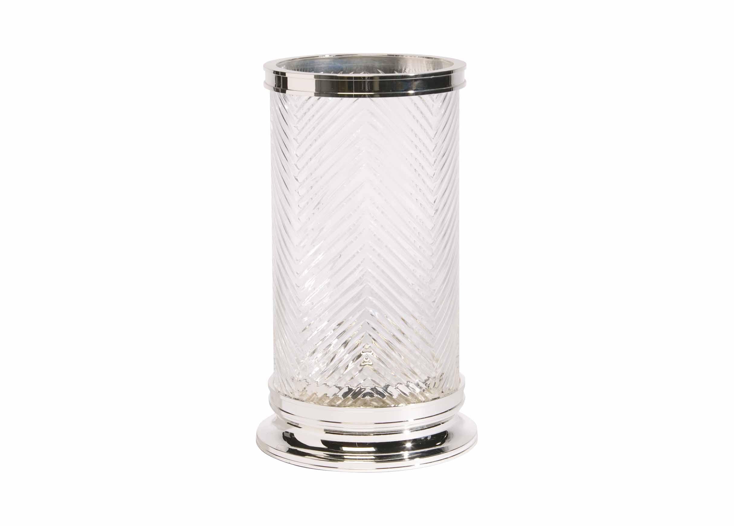 Herringbone Glass Hurricane  Candle Holders  Ethan Allen